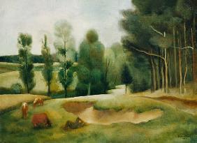 Kunstdruck von Rudolf Kremlicka - Auf der Weide