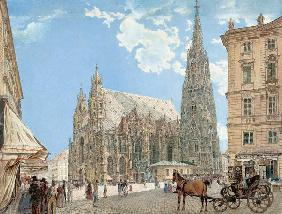 Der Stephansdom in Wien 1831