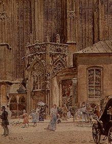 Am Stephansdom in Wien 1892