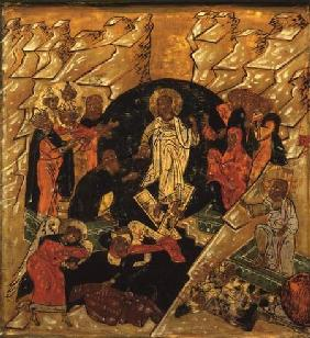 Anastasis (Christ's Descent into Hell), Russian icon late 17th