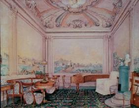 Interior of the reception room in a manor house 1840-50s