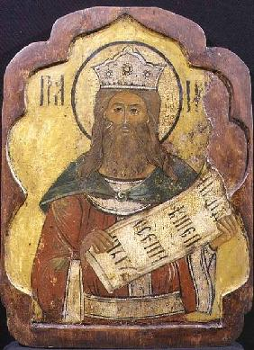 King David, icon, Ukrainian