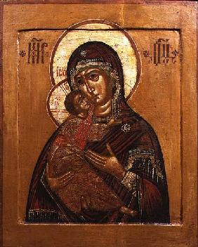 Mother of God of Vladimir, icon from north western Russia late 17th