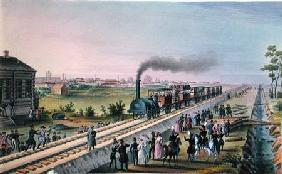 Opening of the First Railway Line from St. Petersburg to Pavlovsk 1820s  on