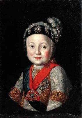 Portrait of Grand Duke Pavel Petrovich as a Child 2nd half o