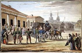 Russian Soldiers Arriving at Krasnoy 1818  on