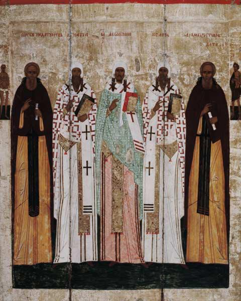 St. Sergius of Radonesh with the Saints of Rostov late 15th