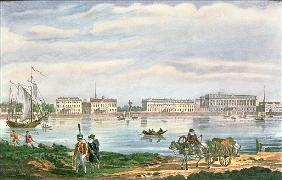 The Marble Palace and the Neva Embankment in St. Petersburg