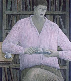 Man Reading, 1998 (oil on canvas)