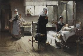 Evangeline discovering her Affianced in the Hospital 1887