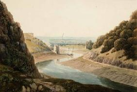 The Avon and Old Hotwell House from St. Vincent's Rocks c. 1825