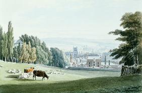 Bristol from below the Royal Fort, Tyndall's Park 1825