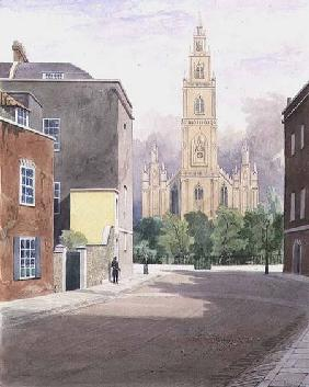 St. Paul's Church, Portland Square, from Surrey Street 1825