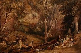A Sketching Party in Leigh Woods c. 1830