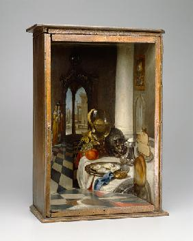 Perspective Box of a Dutch Interior 1663
