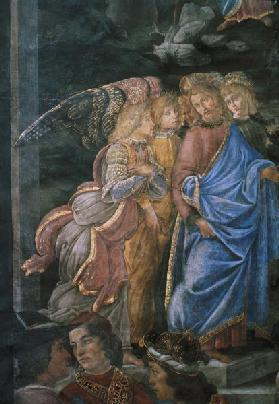 The Purification of the Leper and the Temptation of Christ, from the Sistine Chapel: detail of Chris 1481