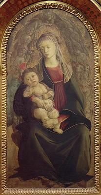 Madonna and Child in Glory (tempera on panel) (for detail see 107250) 13th