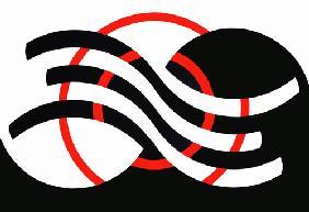 Kunstdruck von Heike Schenk Arena - 2 rote Kreise