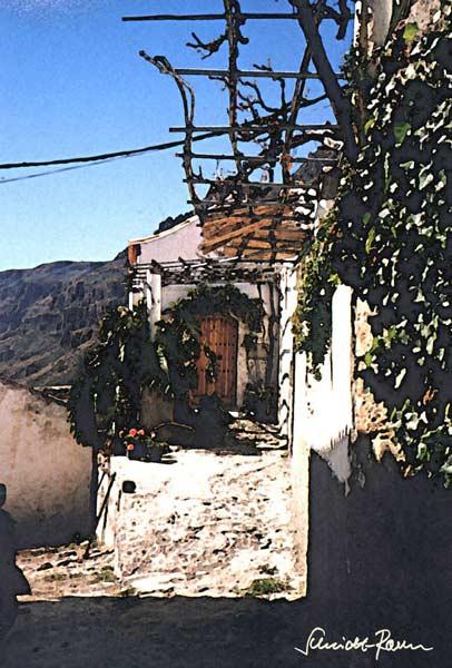 Haus am berg j rgen schmidt raven als kunstdruck oder for Modernes haus berg
