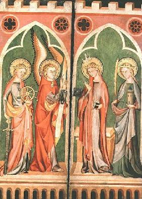 Annunciation with S.S. Barbara and Katherine 1310-40