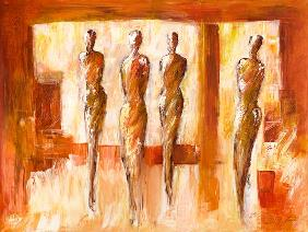 Vier Figuren in Orange 2006
