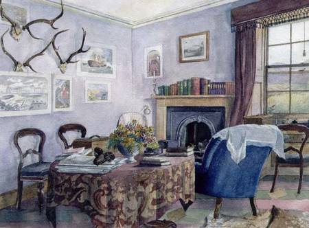 Scottish School Drawing Room Interior In A Country House In Scotland