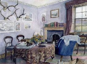 Drawing Room Interior in a Country House in Scotland c.1850  on