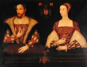 Copy of the original double portrait of Mary of Guise (1515-60) and King James V (1512-42) commissio 1895