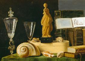 Still Life with a Statuette and Shells c.1630