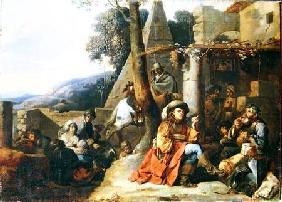Bohemians and Soldiers at Rest