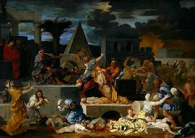 The Massacre of the Innocents (oil on canvas) 19th