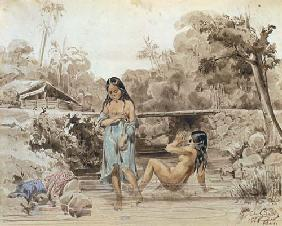 Tahitians Bathing 1844