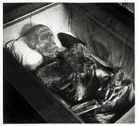 Mummified corpse of the Naked Knight, Kampehl, Brandenburg, Germany