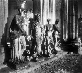 Statues outside the Communs of the Neues Palais, Potsdam