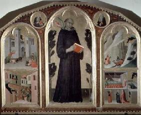The Blessed Agostino Novello Altarpiece, with four of his miracles c.1328