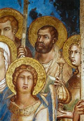 Maesta, detail of the saints 1315