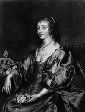 Henrietta Maria (1609-69), illustration from 'Portraits of Characters Illustrious in British History 1901