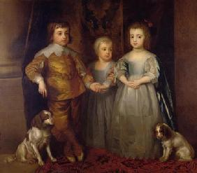 Prince Charles, Prince James and Princess Mary (oil on canvas) 19th