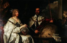 The Madagascar portrait of Thomas Howard and his wife Aletheia Talbot, 1635 (oil on canvas) 19th