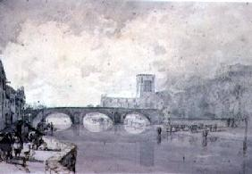 The Abbey and Nungate Bridge, Haddington, East Lothian