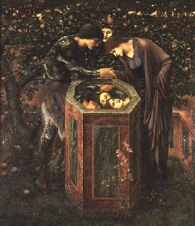 The Baleful Head, illustration from William Morris' 'The Earthly Paradise'; Perseus shows Andromeda 1887