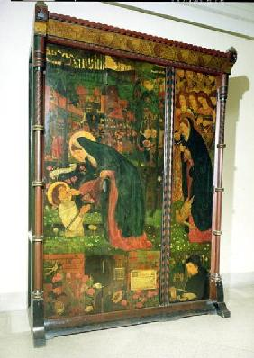 The Prioress' Tale, decorated wardrobe, designed by Philip Webb (1831-1915) 1859