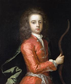 Portrait of a boy, said to be the Duke of Gloucester, holding a bow