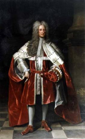 Portrait of Henry, 1st Viscount St. John (1652-1742) in his coronation robes 1727