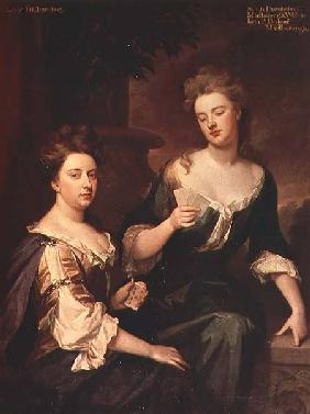 Sarah Marlborough playing cards with Lady Fitzharding