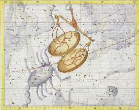 Constellation of Libra, plate 7 from 'Atlas Coelestis', by John Flamsteed (1646-1710), published in 1884