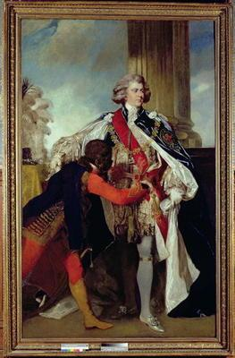 George IV when Prince of Wales with a negro page, 1787 (oil on canvas) 20th