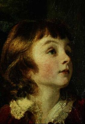 Head of a child detail from the painting the Fourth Duke of Marlborough (1739-1817) and his Family 1777-78