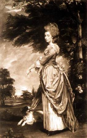 Portrait of Emily Mary, Countess of Salisbury (1750-1835), engraved by Valentine Green (1739-1813) 1781