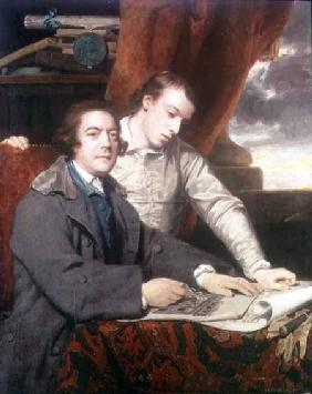 Portrait of James Paine (1717-89) architect, and his son James 1764